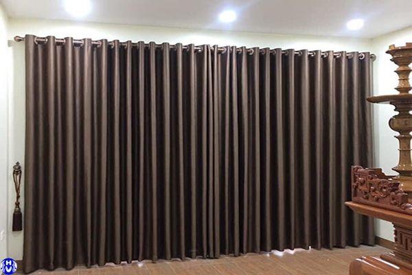 Bộ rèm cửa sổ phòng thờ lắp đặt khách hàng ở thanh xuân