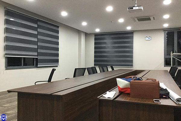 Công trình rèm cầu vồng cửa sổ đẹp văn phòng hiện đại tại hà nội