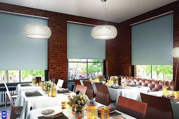 Công trình rèm cuốn trơn nhà hàng ăn uống sang trọng tại hà nội
