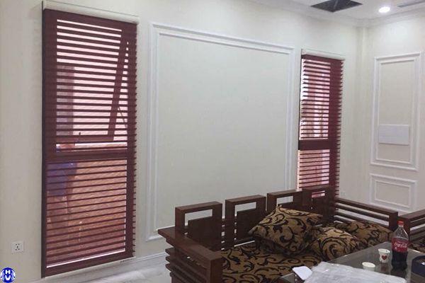 Công trình rèm gỗ giá rẻ lắp đặt tại gia lâm