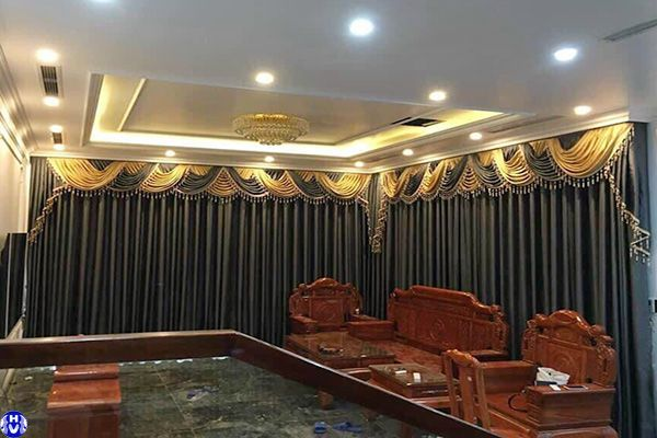Mẫu rèm cửa tân cổ điển đẹp sang trọng thiết kế cho phòng khách