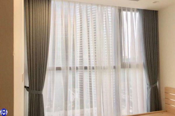 Thi công rèm cửa 2 lớp giá rẻ chung cư tại đức giang long biên