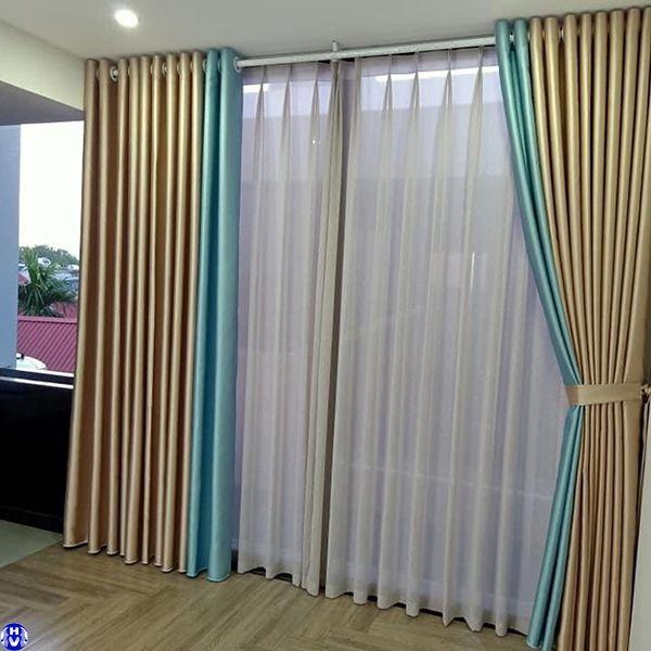 Lắp đặt rèm cửa 2 lớp nhà phố tại yên phụ tây hồ