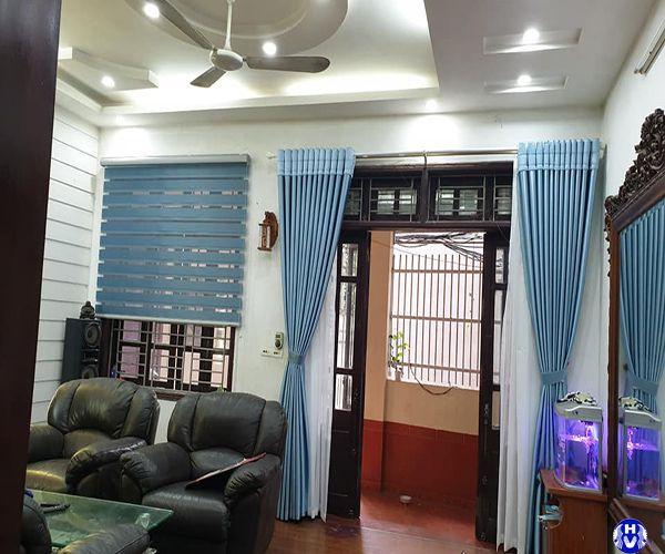 Rèm cửa cao cấp lắp đặt tại nhà phố đường hoàng minh giám cầu giấy