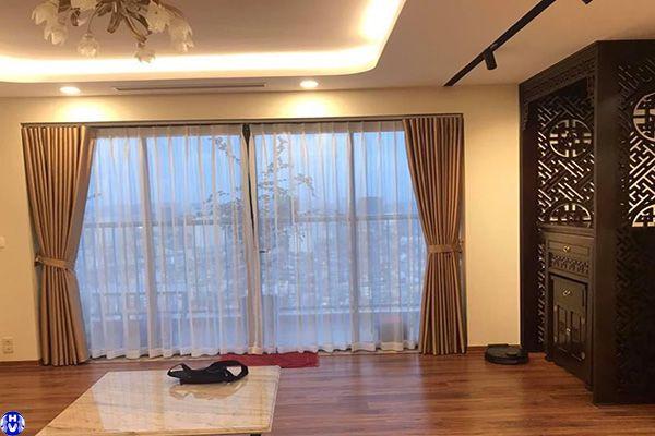 Rèm cửa đẹp sang trọng vải cotton thi công nhà chung cư