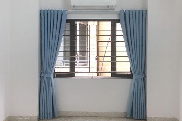 rèm cửa 1 lớp phòng khách có diện tích nhỏ hà nội