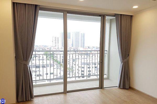 Rèm cửa sổ bằng vải 1 lớp không hoa văn cho phòng ngủ lắp tại lương thế vinh