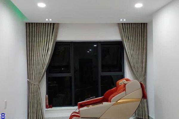 Rèm cửa sổ bằng vải cotton thi công tại vũ ngọc phan đống đa