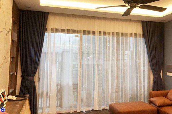 Rèm cửa sổ chống nắng lắp đặt chung cư ở phương canh nam từ liêm