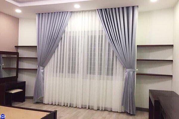 Rèm cửa sổ kiểu nhật vải cao su cách nhiệt hoàn thiện gia đình mai động