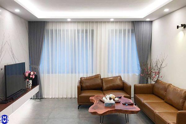 Rèm cửa sổ theo phong cách nội thất hiện đại khách hàng cầu giấy
