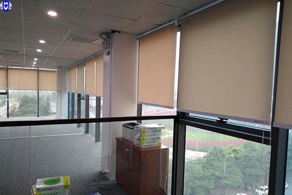 Thi công rèm cuốn lưới giá rẻ văn phòng tại trần thái tông cầu giấy