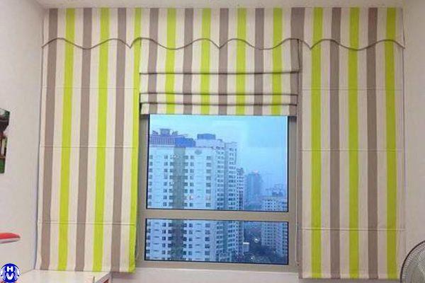 Rèm roman cửa sổ nhỏ thi công tại triệu việt vương