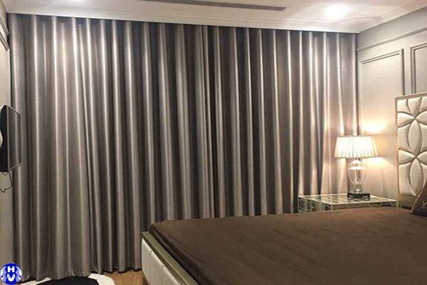 Rèm vải 1 lớp cao cấp cho chung cư tại trần hữu dực nam từ liêm