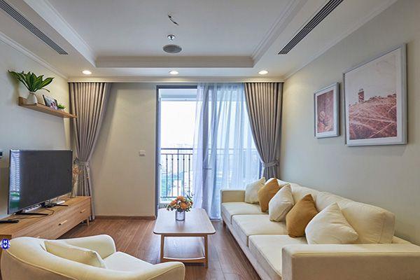 Rèm vải 1 lớp cửa sổ phòng khách chất liệu cotton màu màu ghi tại hàng khay