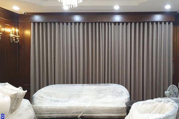 Rèm vải 1 lớp đẹp phòng khách thi công tại Hà Nội