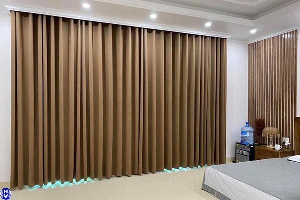 Rèm vải 1 lớp giá rẻ lắp đặt tại chung cư đường nguyễn tuân thanh xuân