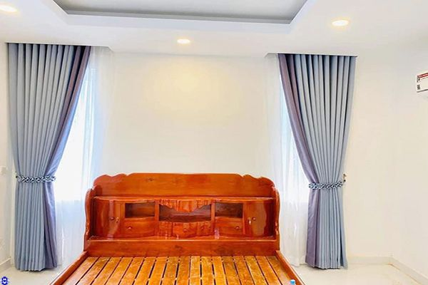 Rèm vải 1 lớp phòng ngủ hiện đại sang trọng chắn nắng