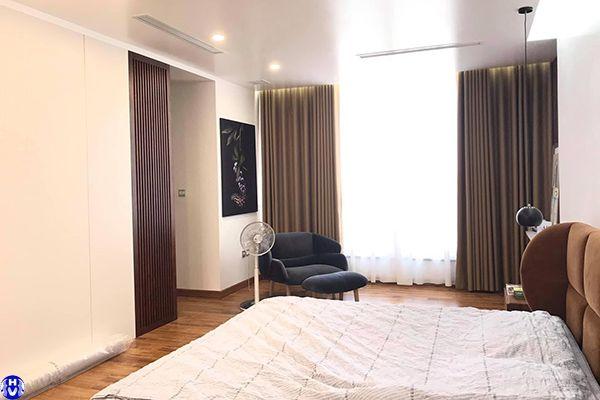 Rèm vải 2 lớp cao cấp chống nắng phòng ngủ nhà chị tươi tại ba đình