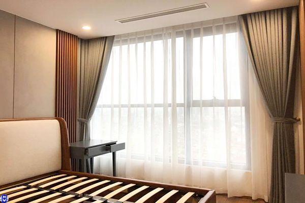 Rèm vải 2 lớp trơn cách nhiệt phòng ngủ đơn giản trẻ trung