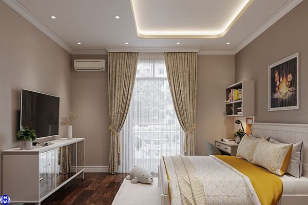 Rèm vải cao cấp phòng ngủ cho trẻ nhà chị loan ở hai bà trưng