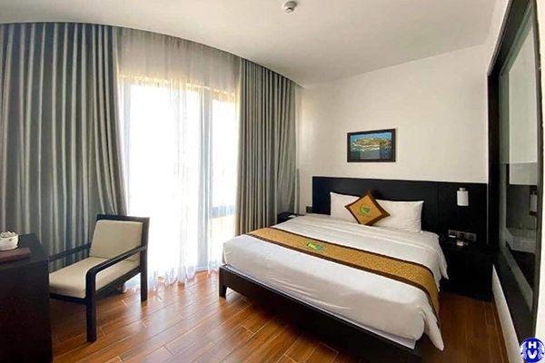 Rèm vải chống nắng giá rẻ lắp đặt nhà nghỉ ở vĩnh hưng hoàng mai