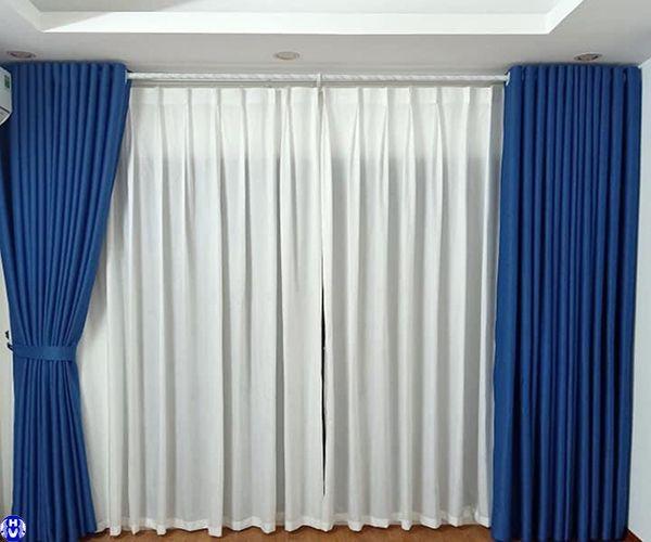 Rèm vải cotton đẹp giá rẻ lắp đặt chung cư hiện đại tại hà nội
