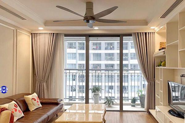 Rèm vải cửa sổ 1 lớp giá rẻ chống nắng phòng khách tại quận cầu giấy