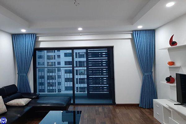 Rèm vải 1 lớp cửa sổ nhà chung cư vinhomes ocean park