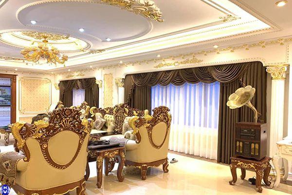 Rèm vải cửa sổ nhập khẩu cao cấp dành cho biệt thự tại hà nội