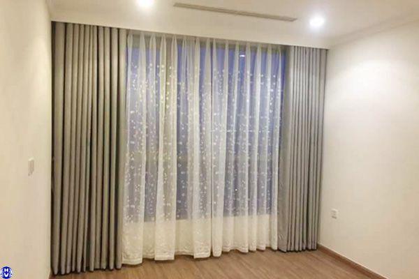 Rèm vải cửa sổ tự động lắp đặt nhà mặt phố ngọc hồi thanh trì