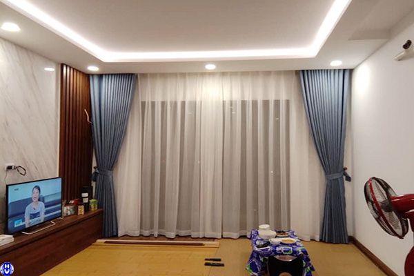 Rèm vải cửa sổ tự động nhập khẩu thi công tại thiền quang hai bà trưng