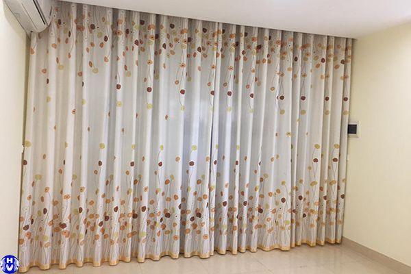 Rèm vải gấm cao cấp lắp đặt nhà phố lê quang đạo nam từ liêm