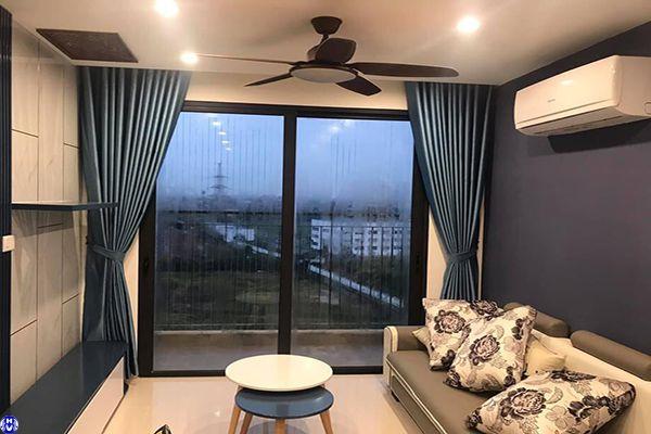 Rèm vải gấm cửa sổ sang trọng may xếp ly lắp tại đường lê lợi hà đông