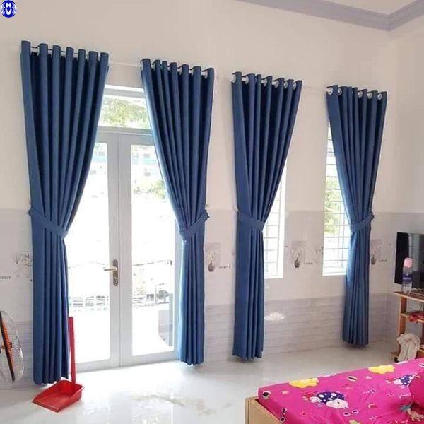 Rèm vải giá rẻ phòng ngủ nhà anh nam tại tây hồ