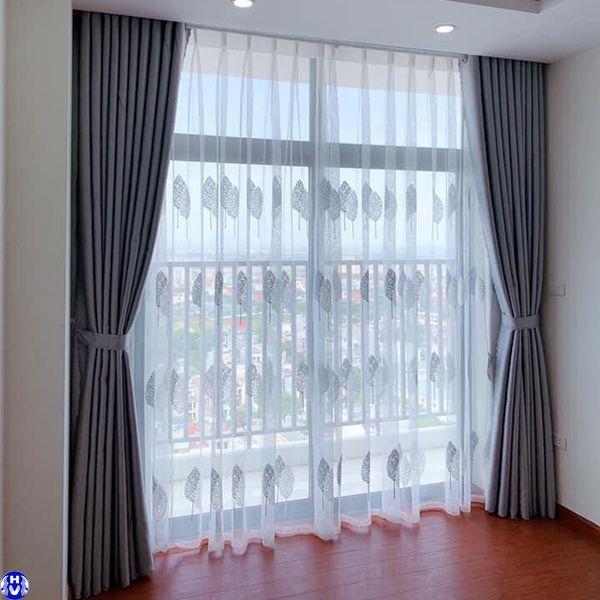 Rèm vải phòng ngủ 2 lớp nhà chị lan tại nam từ liêm