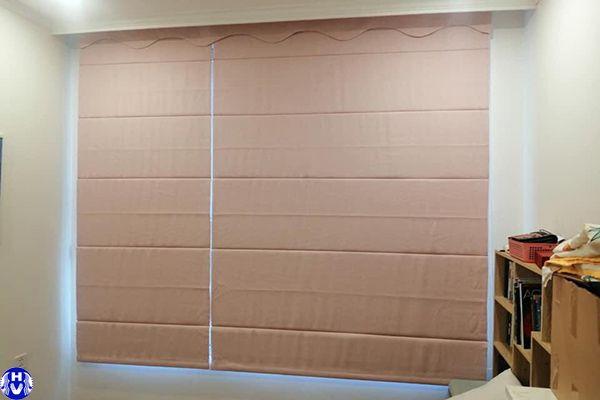 Rèm vải roman lắp đặt tại hoàng như tiếp long biên