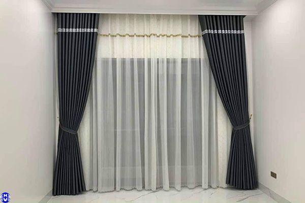 Rèm vải treo cửa sổ dành cho chung cư thượng thụy tây hồ