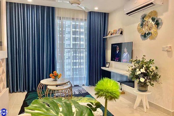 Rèm vải tự động hiện đại lắp chung cư tại khương đình thanh xuân