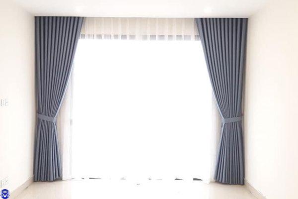 Thi công rèm cửa sổ 1 màu cho nhà chung cư tại trịnh đình cửu hoàng mai