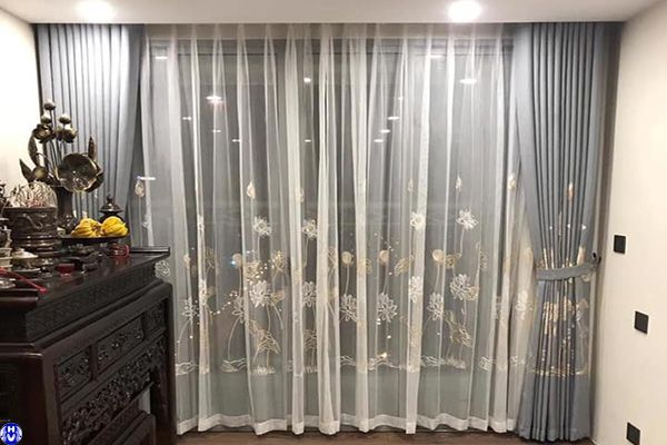 Thi công rèm cửa sổ phòng thờ gia đình tại nguyễn bồ thanh trì