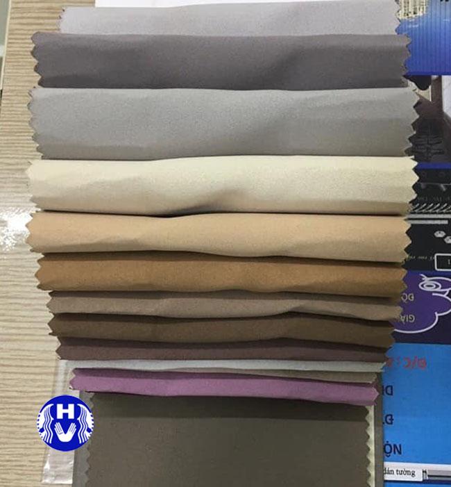 bảng màu các loại vải che nắng phòng khách