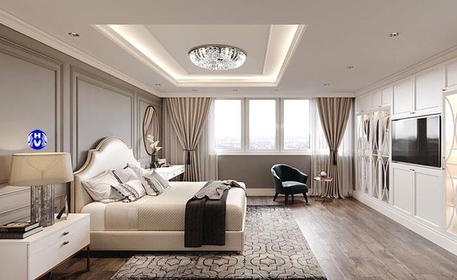 Bộ rèm cửa cao cấp tô điểm thêm cho căn phòng ngủ được quyến rũ hơn