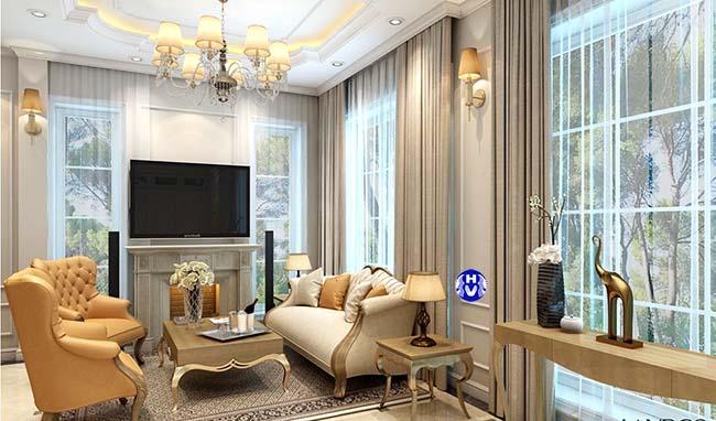 Bộ rèm cửa cao cấp tôn lên nét đẹp cho nội thất trong căn phòng