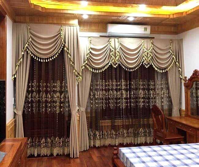 Bộ rèm cửa phản ánh tay nghề điêu luyện nghệ nhân may của Hải Vân