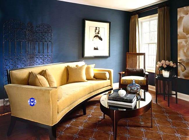 Gam màu vàng rèm cửa là sự sắp xếp có chủ ý kiến trúc sư