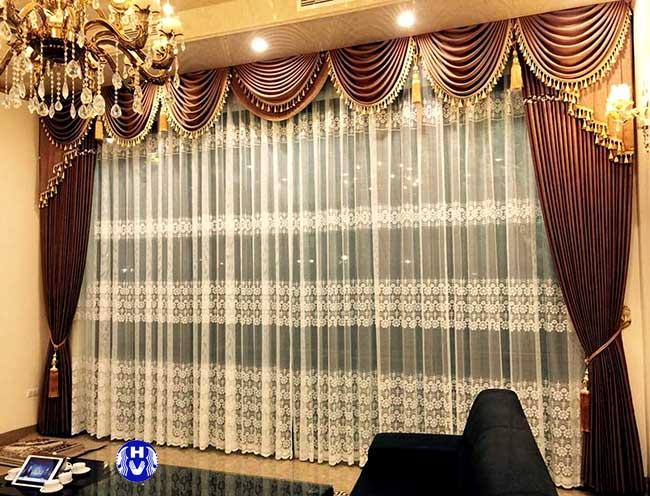 Mẫu rèm cửa đẹp thiết kế bởi đội ngũ Hải Vân tại Hà Nội