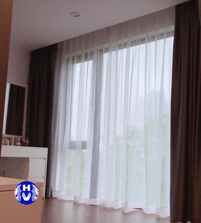 mẫu rèm cửa hai lớp thiết kế đơn giản cho phòng ngủ