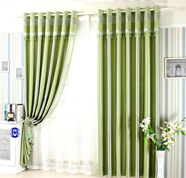 Mẫu rèm cửa màu xanh lá hợp phong thủy chủ nhà