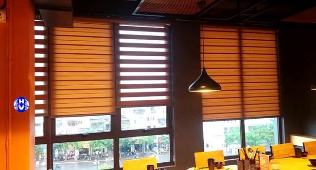 Mẫu rèm cửa sổ thiết kế cho nhà hàng tại quận đông đa